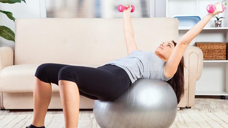 fazer exercícios em casa