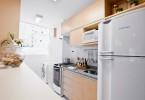 cozinha com geladeira