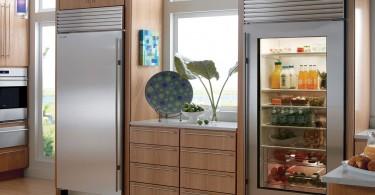 geladeira ou refrigerador na cozinha