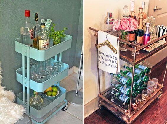 carrinhos de bebida