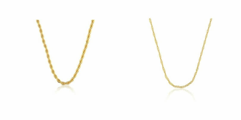Gargantilhas douradas masculinas