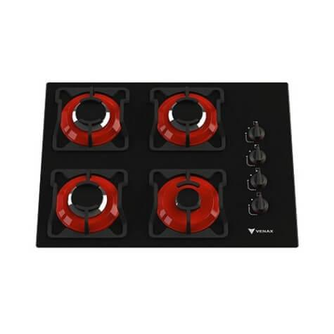 Imagem mostrando fogão cooktop 4 bocas