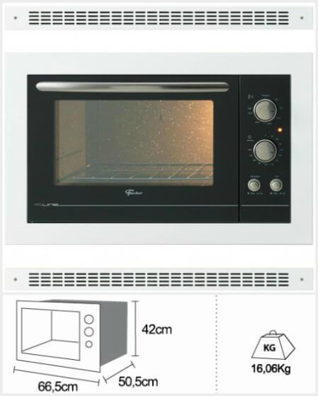 forno elétrico de embutir Fischer Fit Line Branco