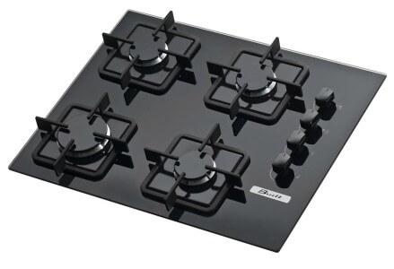 cooktop vidro temperado preto 4 bocas quadrado