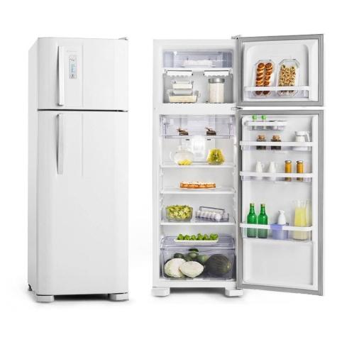 Geladeira ideal para solteiros e casados Electrolux Duplex Frost Free 310L