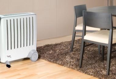 aquecedor de ar na sala de jantar