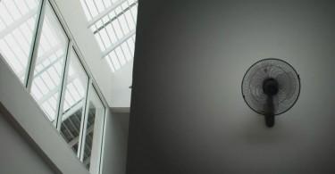 Ventilador de parede instalado