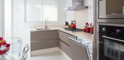 cozinha com lava louças