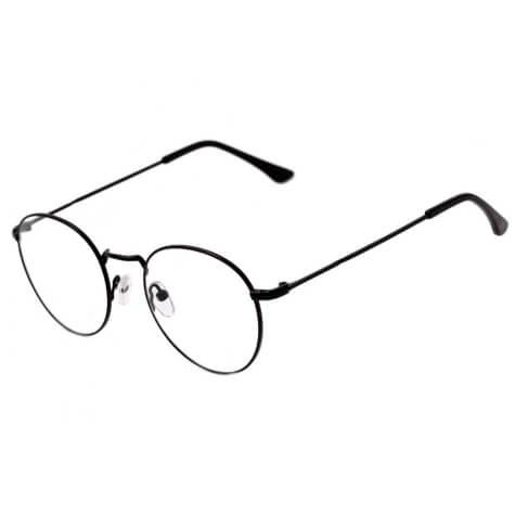 Imagem de óculos em formato redondo