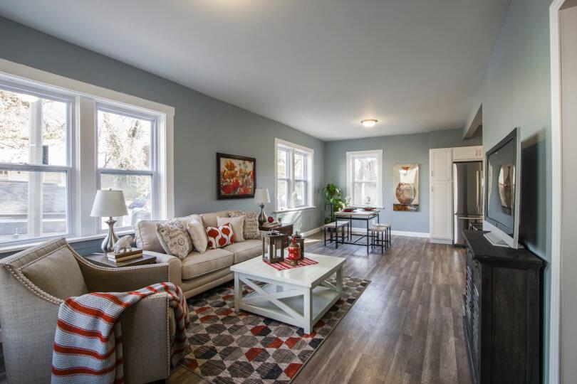Decoração de sala de estar para o inverno