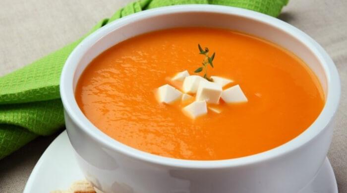 Receita de creme de abóbora com queijo