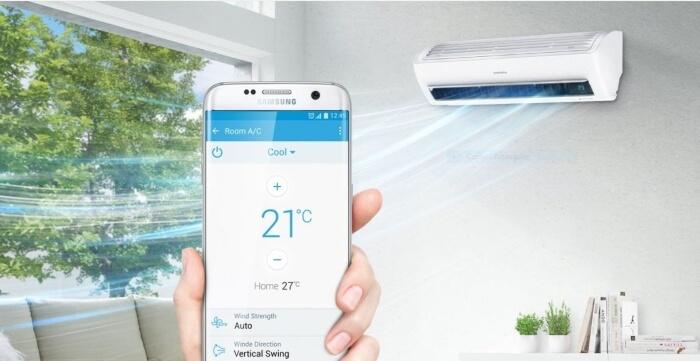 ar-condicionado inteligente da Samsung.