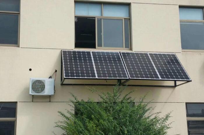 Ar-condicionado com placa solar
