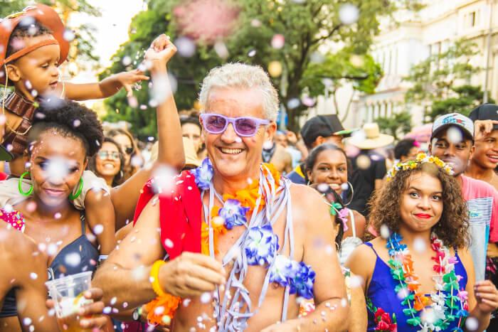 Bloco de carnaval na rua